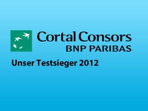 Unser Testsieger im Broker Vergleich 2012